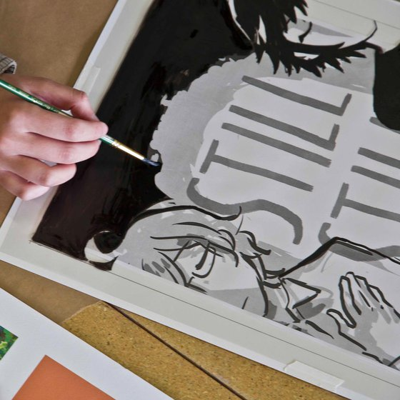 Illustration student painting a graphic poster_Illustration listing image_MB
