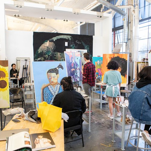 The Painting Studios are large, open, sunlit classrooms on our San Francisco campus.