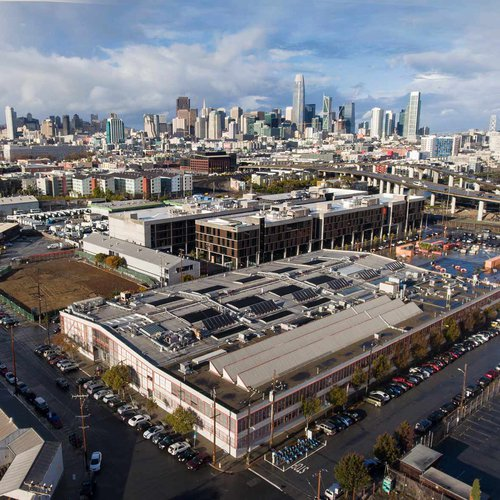 An aerial view of CCA's San Francisco campus, which is undergoing an expansion to provide more student housing and increased capacity for interdisciplinary making.