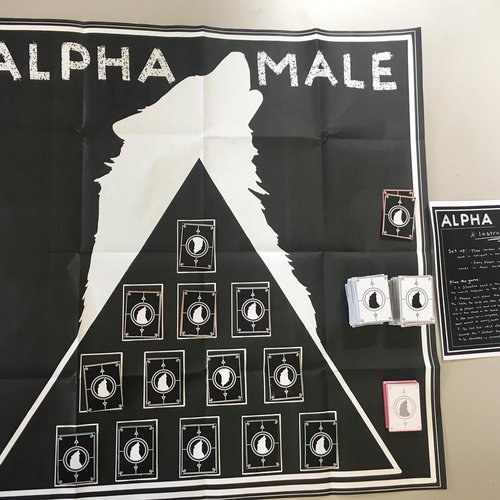 A game called Alpha Male, made by students Andie Gener, Lucy Zhou, Harry Ye, and Sabine Belofsky in the Gaming and Play course.