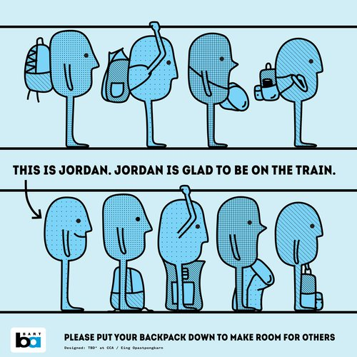 Graphic design students create BART etiquette posters_header_SD