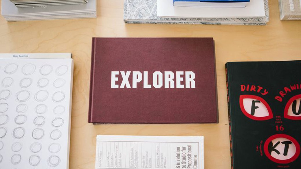 'Explorer' book at CCA's YCBA located Curatorial Research Bureau ___Beyond the studio and into the world_ horizontal feature_MB