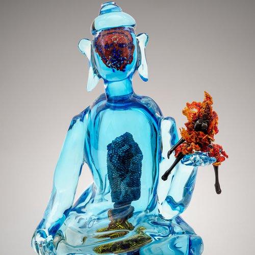 Joyce J. Scott, Buddha (Fire & Water), 2013