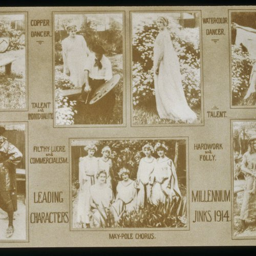 CCA History: Printed yearbook materials from 1914.