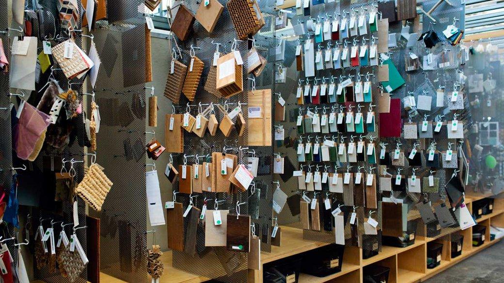 Materials Library at the San Francisco campus.