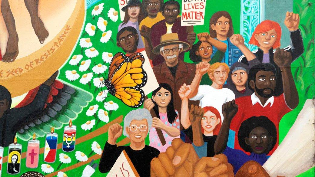 Oakland Mural close-up