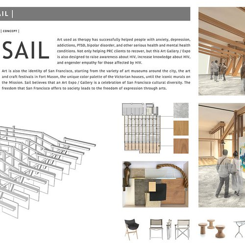 Sail, an art gallery + expo concept for The Harbor.
