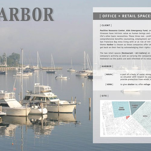 The Harbor, the winning concept for the Angelo Donghia Foundation Scholarship.