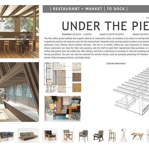 Under the Pier, a restaurant + market concept for The Harbor.