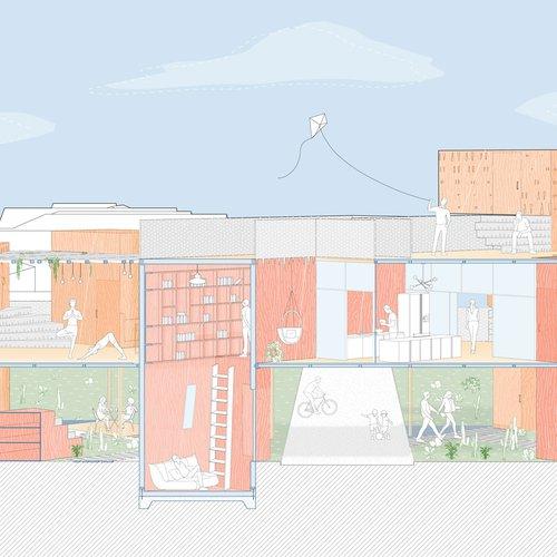 Mithila Jagtap, Backyard Nooks. Digital rendering. Courtesy of the artist.