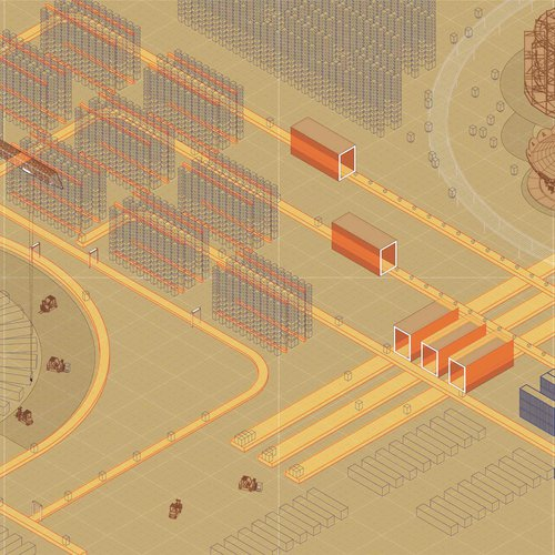 Duy Nguyen, Fulfillment Park. Digital rendering. Courtesy of the artist.