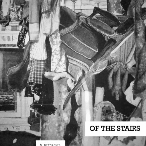 Mia Trachtenberg, Mitzi at the Bottom of the Stairs, Novel Cover. Collage, Photoshop. Courtesy of the artist.