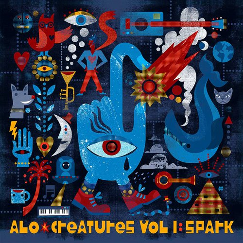 An album cover design for the band ALO (Animal Liberation Orchestra). By Michael Wertz.