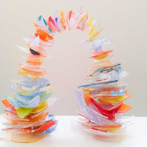 Glass rainbow by Maggie Kelly.
