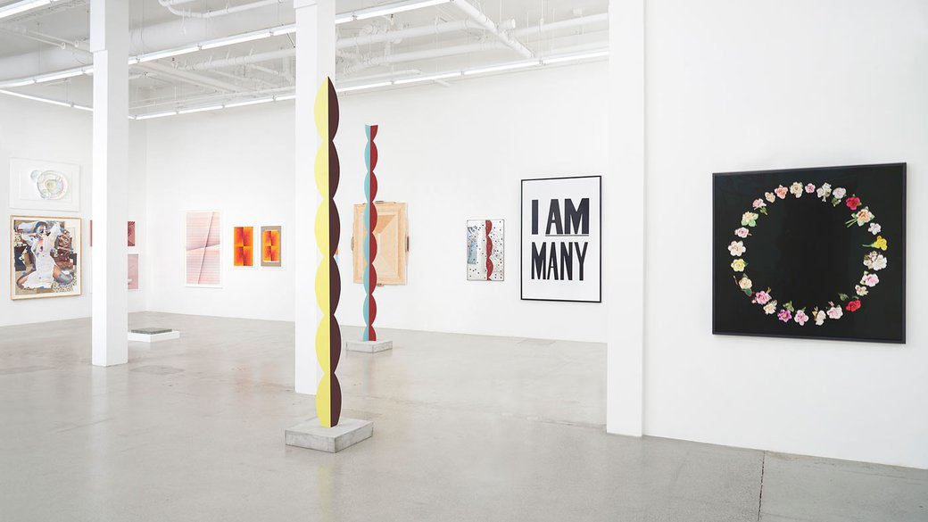 Installation view of 'Kinship'_Jessica Silverman Gallery 10 yr anniversary exhibition_TRC work on the right_feature_MB