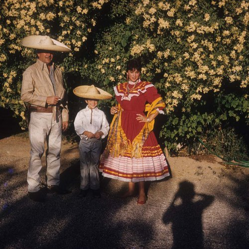 Linda Ronstadt in mariachi outfit.