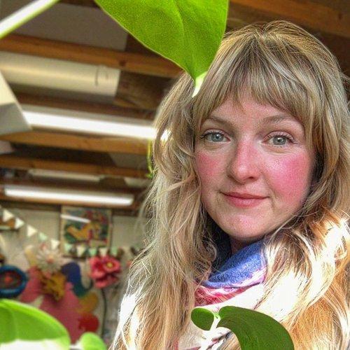 Shannon Danielle Taylor inside her workshop at Children's Fairyland in Oakland.