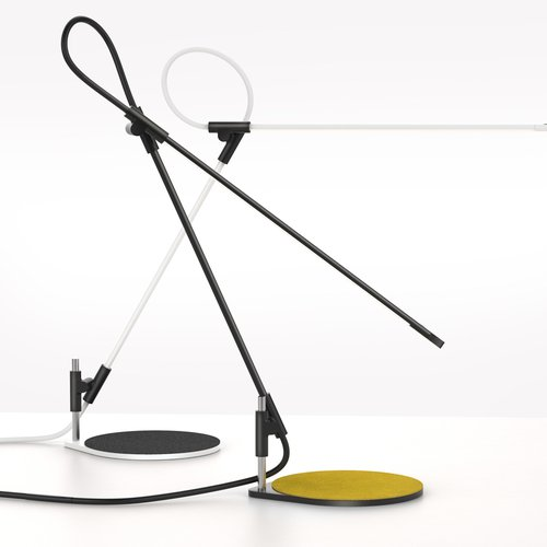 Superlight, a task light reduced to its essence, a gestural line in space by Matthew Boyko and Peter Stathis