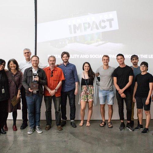 Group photo of IMPACT award winning team Buoyant Ecologies Float Lab