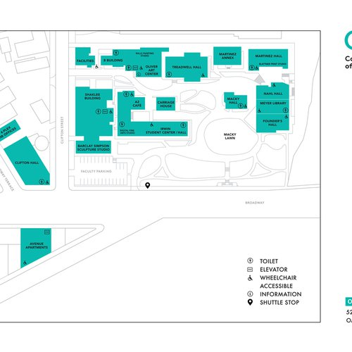 CCA Oakland campus map