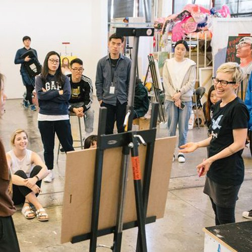 CCA Painting + Drawing students develop their voice as an artist during open crit sessions