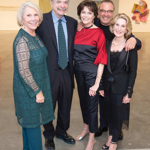 Patricia W. Fitzpatrick, 2017 Gala Honoree David Kelley, 2018 Gala Honoree Kay Kimpton Walker, 2016 Gala Honoree Stanlee Gatti, and CCA Trustee Lorna Meyer Calas
