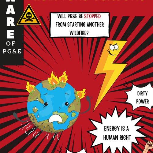 Astrid Hernandez, Beware of PG&E, 2021. Horror comic book-themed zine designed by Astrid Hernandez.
