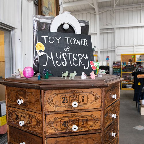 """The """"Toy Tower of Mystery"""" in ARCH."""