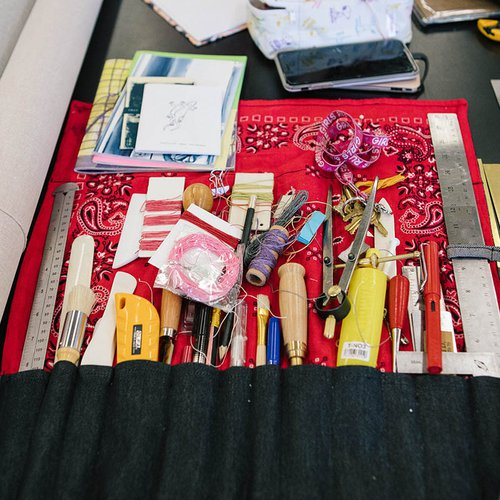 Make your own portable toolkit so creative expression is possible wherever you go. What would be in your toolkit?