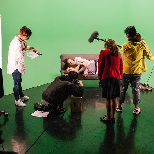 Collaborative movie magic wouldn't happen without production gear like green screens, boom microphones, light kits, and cameras.