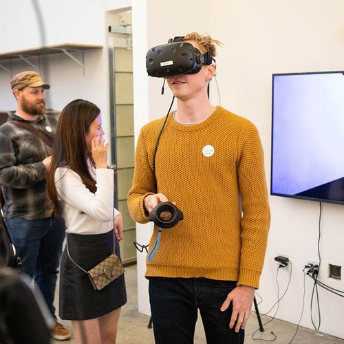 There's a virtual reality lab on our San Francisco campus fully stocked with tech and tools dedicated to VR exploration.