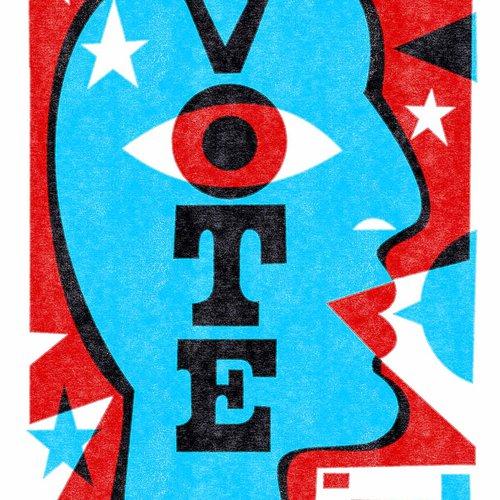"""Michael Wertz, """"Vote"""" poster"""