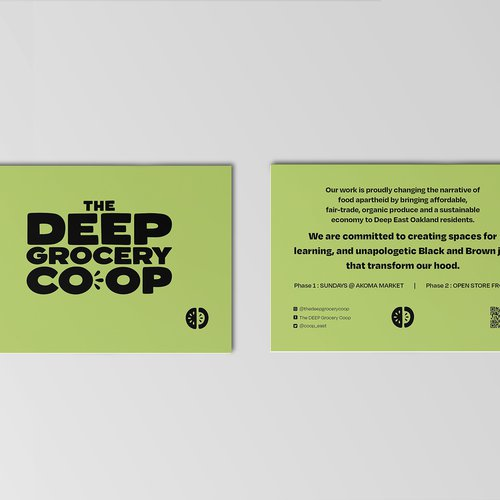 Design for The DEEP by Amanda Lee (BFA Graphic Design 2021) and Sony Maharjan (BFA Graphic Design 2021), 2020.