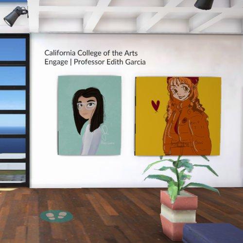 Edith Garcia, Engage, 2020. VR artists portraits, digital illustrations. Photo courtesy of Edith Garcia.