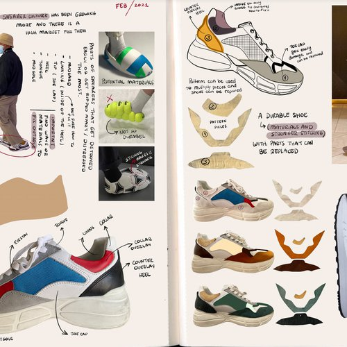 Shoe collection sketchbook by Melissa Rodriguez.