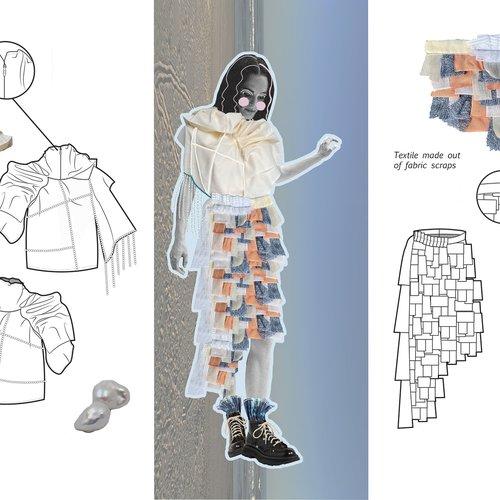 Textile sketch by Melissa Rodriguez.