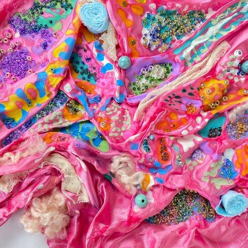 Textile exploration by Melissa Rodriguez.