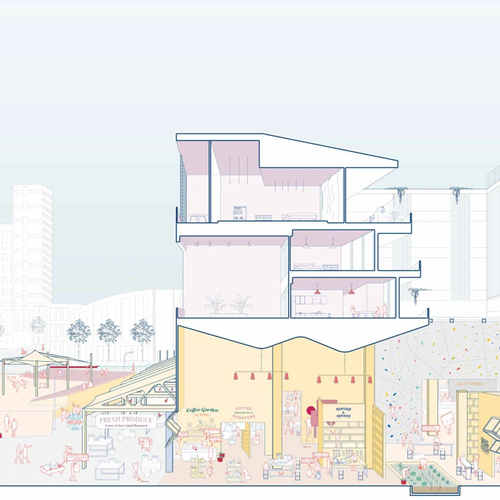 Maria Antonieta Ramirez (BArch 2021) and Elida Zavala (BArch 2020), Work From Home Neighborhood. A new normal, reimagining the ground floor.