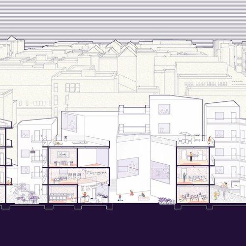 Valeriya Velyka (BArch 2021), Communal Housing, spring 2019.