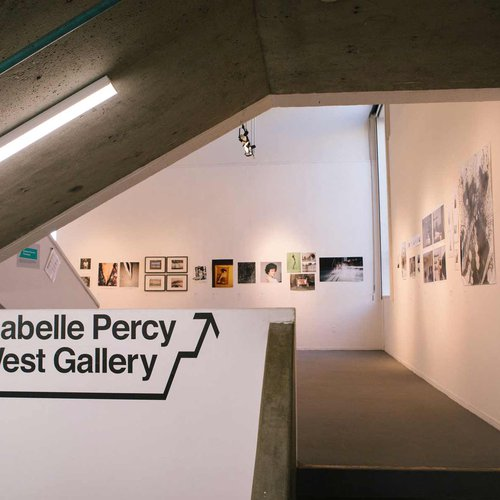 Students practice curating and hanging their work in campus exhibition spaces like Isabelle Percy Gallery.