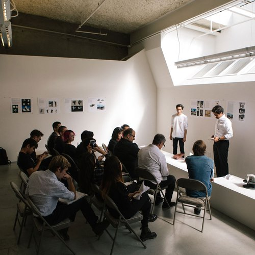 An Architecture studio critique.
