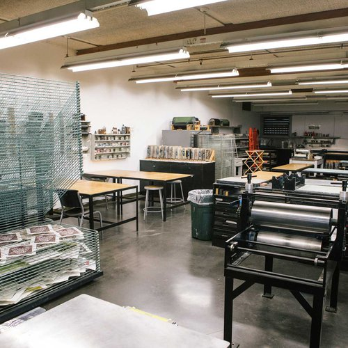 Blattner Print Studio is used for intaglio, lithography, relief, and monotype printmaking.