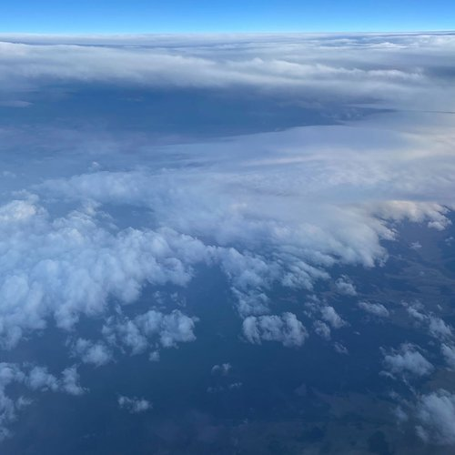 Somewhere above the U.S. (between CA and NY), 5:41 pm PT, September 25, 2020. By Jennifer Siu, staff.