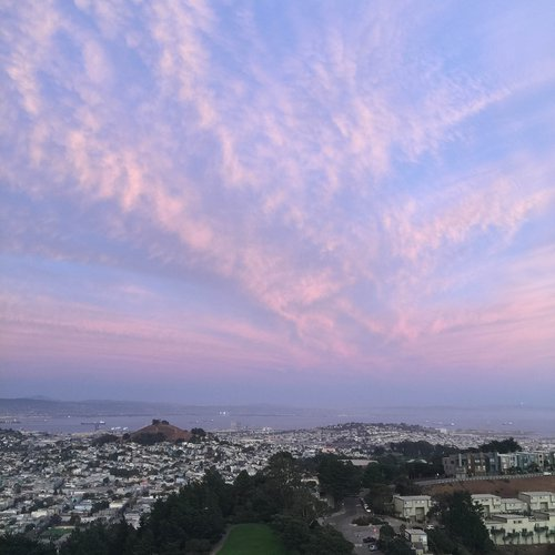 Diamond Heights, San Francisco, CA, 7:04 pm PT, September 26, 2020. By Helen Maria Nugent, faculty.