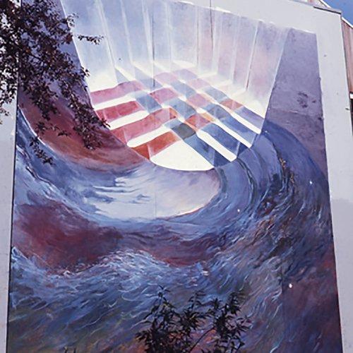 1976 Martinez Hall mural.