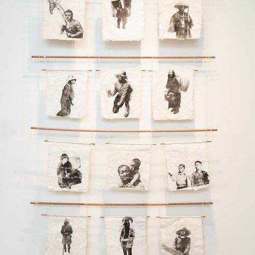 Lydia Nakashima Degarrod, Mending the Past. 88 x 48 inches.