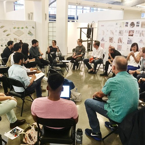 Known Unknowns advanced architectural studio review, Fall 2018.