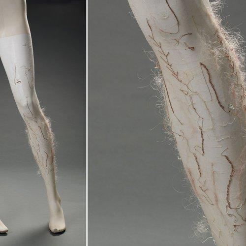 Anna Nunes, Untitled (Leg Hair Embroidery)