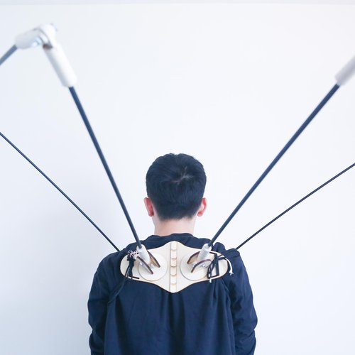 Xinheng Jiang, Perception Expanding Project, 2020. Wood, plastic, 3D print. Courtesy of the artist.