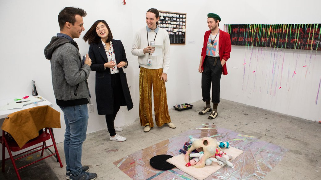 MFA Fine Arts students during MFA Open Studios_hero_MB